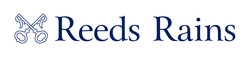 Reeds Rains Logo - Horizontal White