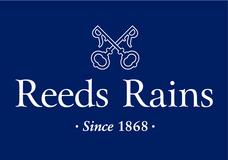 Reeds Rains Logo - Vertical Blue