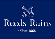Reeds Rains Logo - Vertical White